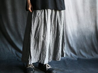リネンスカートパンツ:ミニギンガムの画像