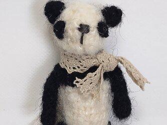 編みぐるみパンダ(モヘア毛糸)の画像