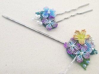 かんざし&Uピンセット Bouquet  (紫陽花01)の画像