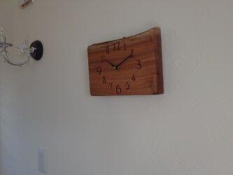 木製時計 sora 壁掛け さくらの画像