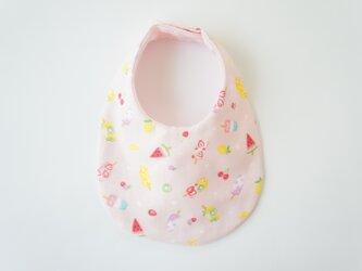《ふんわり撥水スタイ》アイスキャンディ・ピンクの画像