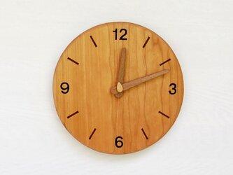 直径21.5cm 掛け時計 チェリー【2121】の画像