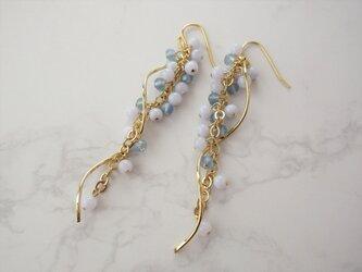 金具変更OK Pierces or Earrings ブルーレースアゲート(P0971)の画像