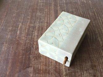 バターケース  呉須釉麻紋(ナイフ付)の画像