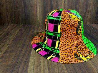 アフリカ布チューリップハットの画像