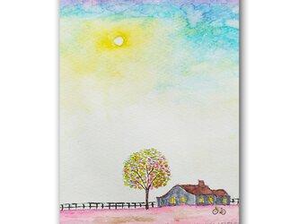 「空と約束した子守歌」 ほっこり癒しのイラストポストカード2枚組No.1357の画像