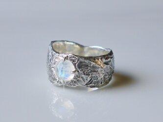 Rainbow moonstone ring(sv*いぶし)★レインボームーンストーン★リング★天然石★6月誕生石の画像