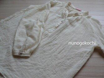 リネンウールのクリオネシャツ*冬のホワイトの画像