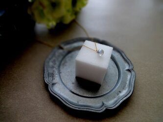 天然石のペンダントネックレス ■ 一粒の幸福 ■ ラブラドライト 6mmサイズの画像