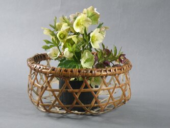 花籠 盛り籠 煤竹 鳳尾竹 千島笹 根曲がり竹の画像