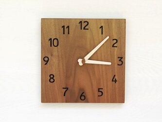 24cmX24cm 掛け時計 ウォールナット【2127】の画像