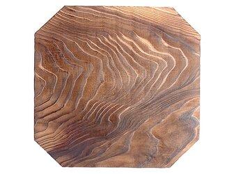 鍋敷き 木台18cm 焼杉の画像