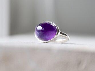 グレープ風味のアメジスト ringの画像