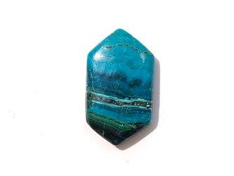 クリソコラマラカイト[99] 22x13mm 11Ct  ルース/天然石 / カボションの画像