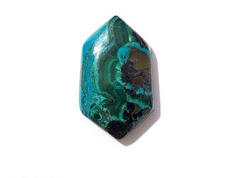 クリソコラマラカイト[102] 22x13mm 15Ct ルース/天然石 / カボションの画像