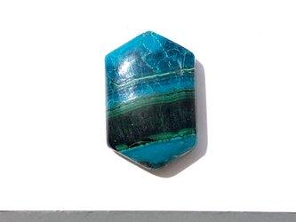 クリソコラマラカイト[103] 20x13mm 16Ct ルース/天然石 / カボションの画像