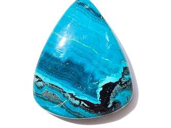 クリソコラマラカイト[105] 31x25mm 37Ct  ルース/天然石 / カボションの画像