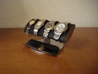 父の日 ブラックでかい楕円パイプ男性用腕時計スタンド ak-design 20130320の画像