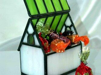 ステンドグラス キャンディハウス・緑屋根の画像