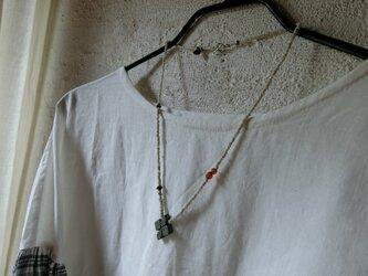 *happy price*古のネックレス。@カリマンタン島の発掘ビーズ+エチオピアンクロス(蝋石)+石とか古いビーズとかの画像