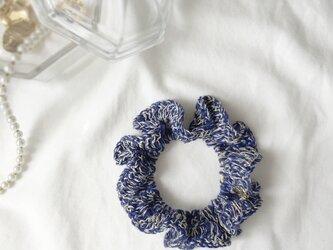 【sale】シュシュ 夏 リネン コルトレイク 麻 / ブルーの画像