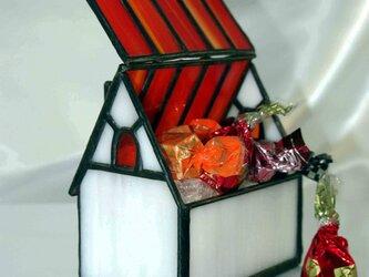 ステンドグラス キャンディハウス・赤屋根の画像