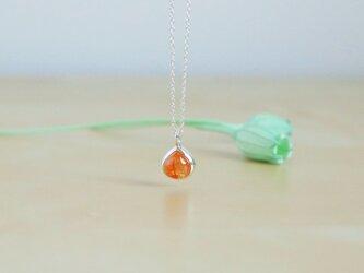 【純銀】オレンジガーネットのネックレスの画像
