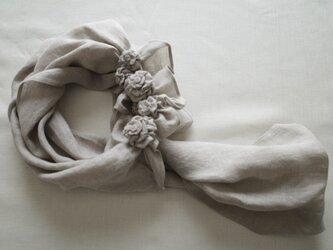 花のストールの画像
