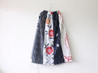 ☆浴衣ミディロングスカート☆パッチワーク♪/32ks06の画像
