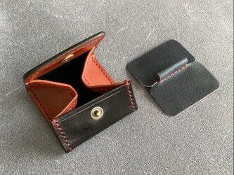【Coins BanBan ツートン】BOX型 小銭が分別できる C-01bkbn コインケース 小銭入れ レザーの画像