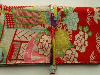 5596 花柄の長襦袢で作った和風財布・ポーチ #送料無料の画像