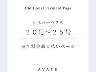【シルバー925】リングサイズ20~25号 追加料金お支払い用ページ(S)の画像