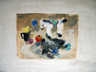 ロバと紫陽花(額無し)の画像