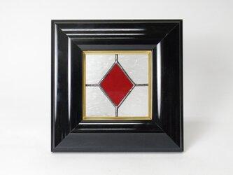 ステンドグラスパネル ダイヤ柄 フレームBの画像