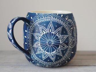 青いマグカップ(大2)の画像