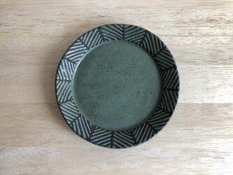 リム平皿(ヘリンボーン・グリーン)の画像