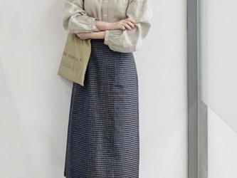 4色 カーディガン長袖シャツ 刺繍 レースドロップスリーブ 春ブラウス リネンの画像