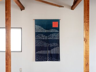 Mountain Folds 筒描き暖簾 (受注生産)の画像