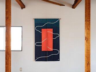 Desire Line 筒描き暖簾 (受注生産)の画像