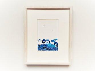 「日々」イラスト原画 ※木製額縁入りの画像