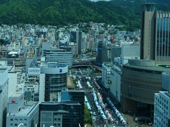 幻の街角 「フラワーロード」 「街のある暮らし」 A3サイズ光沢写真縦 神戸風景写真 神戸六甲 写真のみ 送料無料の画像