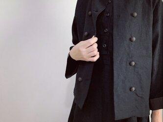 ダブルボタンジャケット(黒)の画像