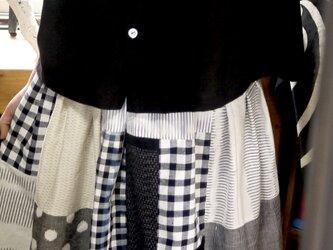 久留米絣無地小襟ののブラウスの画像