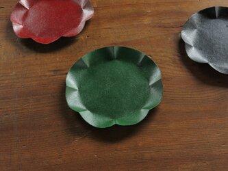 和紙と漆のうつわ「わしき」 5寸 緑漆の画像