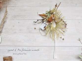 「safari」 wreath    ソテツとドライアンドラのリース   ドライフラワーリース の画像
