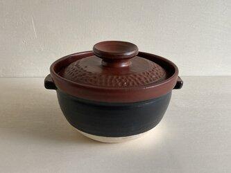 赤蓋ご飯用土鍋 1合炊【直火対応】の画像