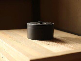 【愛知県常滑産】とこなめ焼の茶葉入れ・低・380ミリリットル・墨色の画像