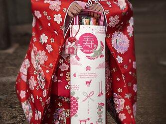 おしゃれな七五三 飾れる千歳飴袋(紙平紐):縁起物の画像