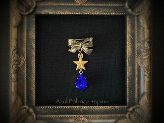 ブローチ:ruban (ブルー)の画像