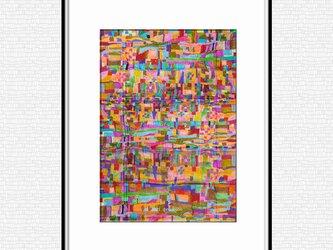「深呼吸する体温」 ほっこり癒しのイラストA4サイズポスター No.784の画像